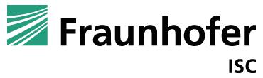Fraunhofer ISC Fraunhofer-Institut für Silicatforschung