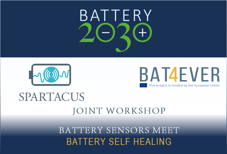 Joint workshop to pave the way for combining self healing and smart sensors for future batteries
